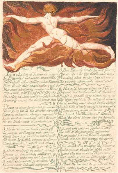 "William Blake, The First Book of Urizen, Plate 3,""Chap-1"" Google Art Project, Wikimedia Commons"