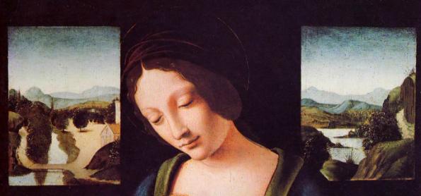 Virgen con Niño, Boltraffio (detalle)